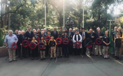Epping stops to commemorate 101st Remembrance Day